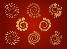 8 Spirals - Free Vector Set | Download Free Vectors Art Graphic ... Free Vector Files, Vector Free Download, Free Vector Art, Silhouette Projects, Sacred Geometry, Tangled, Swirls, Zentangle, Free Design