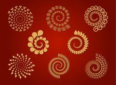 8 Spirals - Free Vector Set | Download Free Vectors Art Graphic ...
