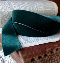 lush emerald green velvet ribbon by ShyMyrtle on Etsy