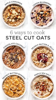 How to cook steel cut oats in the instant pot - with 6 different healthy, delicious recipes! You'll LOVE how quick it is to make these vegan recipes for breakfast! recipe breakfast 6 Amazing Ways to Cook Steel Cut Oats in the Instant Pot - Simply Quinoa Breakfast Bowls, Healthy Breakfast Recipes, Healthy Snacks, Oats For Breakfast, Oatmeal Breakfast Recipes, Instant Oatmeal Recipes, Healthy Breakfasts, Best Oatmeal Recipe, Healthiest Breakfast