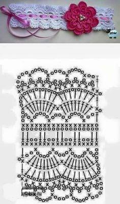 Banda Para El Cabello A Crochet Crochet - Diy Crafts Crochet Lace Edging, Crochet Headband Pattern, Knitted Headband, Crochet Flowers, Crochet Hats, Crochet Stitches Patterns, Knitting Patterns, Diy Crafts Crochet, Crochet Accessories