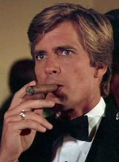 """Dirk Benedict with Cigar. Long before there was Bradley Cooper there was Dirk. The original """"Face'."""