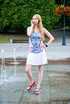 Ahoy, there! Nautical Look Nautical Looks, Jeffrey Campbell, Cheer Skirts, Fashion, Moda, Fasion, Trendy Fashion, La Mode