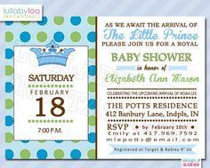 Vintage flashcard baby boy shower invite by sealedandstamped 1500 little prince baby shower invitations 150 lullabyloo royal prince filmwisefo