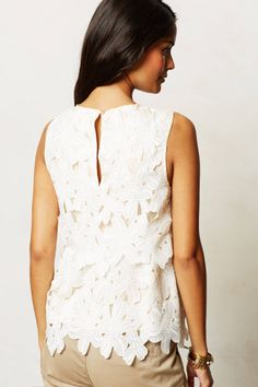 I couldn't love this MORE!  Lace tank from Anthropologie!