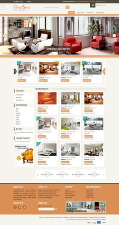 is a fully responsive Magento theme from TemplateMela. This theme has a great visual appearance that is perfectly suitable for furniture, tools and and accessories stores online Magento Design, Layout Design, Web Design, Templates, Website, Store, Room, Furniture, Bedroom