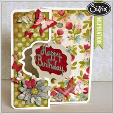 Sizzix Die Cutting Inspiration | Happy Birthday Card by Jan Hobbins