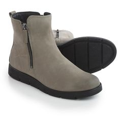 493758deb3ca ECCO Bella Zip Ankle Boots (For Women) in Warm Grey at Sierra Trading Post