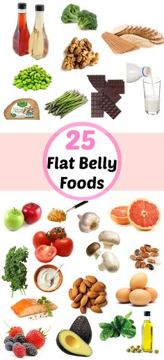 25 of the Best Flat Belly Foods - MyThirtySpot