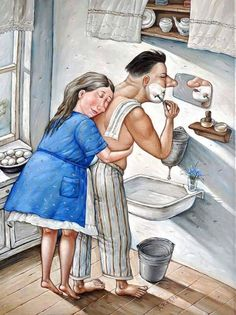 Soviet Reality In Cool Ironical Illustrations - English Russia Photo Humour, Image Digital, Growing Old Together, Old Couples, Gif Animé, Couple Art, Naive, Really Funny, Imagenes De Amor