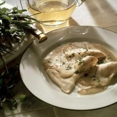 Pair mild-flavored fish like petrale sole with light herb cream sauces.