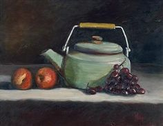 "The Teapot (original) by Rose Wolfe Oil ~ 14"" x 18"""