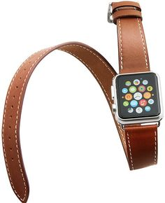 V-MORO Long Genuine Leather Watchbands Double Tour Bracelet Leather Band strap For Apple Watch Best Apple Watch, Apple Watch Bands, Apple Watch Series, Apple Watch Accessories, Brown Band, Rose Gold Watches, Leather Watch Bands, Smart Watch, Bracelet
