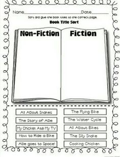 Fiction nonfiction activities