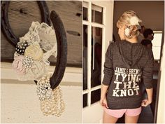 tying the knot hoodie.i want to have something like this on my wedding day Wedding Wishes, Wedding Bells, Wedding Events, Our Wedding, Dream Wedding, Wedding Stuff, Weddings, When I Get Married, I Got Married
