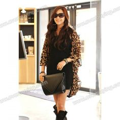 STYLISH WOMEN'S CARNIGANS | Stylish Collarless Leopard Print Long Sleeves Women's Cardigan ...
