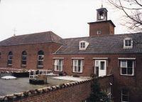 Bejaardenhuis Sonnehoven,  Laan ten Roode : het klooster gedeelte en het torentje van de dagkapel.