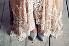 Gold Leaf Wedding dress: Bride's collaboration with Shu Hsien Ryu and Dream Creations. Shoes: Reed Krakoff
