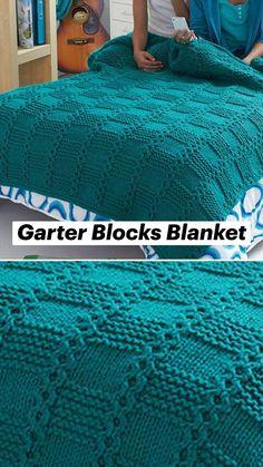 Crochet Throw Pattern, Knit Cardigan Pattern, Baby Knitting Patterns, Knitted Afghans, Knitted Blankets, Wool Blanket, Easy Knitting, Knitting Needles, Knit Rug