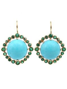 ANDREA FOHRMAN cabochon earrings