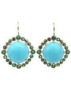 ANDREA FOHRMAN cabochon earrings