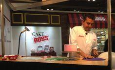 Buddy debuting his new Cake Boss cupcakes and fondant cakes
