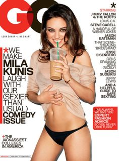 Mila Kunis shot by Terry Richardson for GQ, August 2011