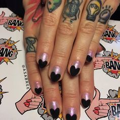@asabree on @brodiegrody  #valentinesnails #fairydust from @oceannailsupply #mattenails #nailchurch #nailswag #fingerbang #fingerbangme