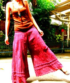 Purple Hippie Gypsy Wide Legs yoga pants