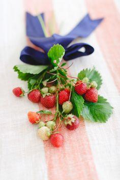 Photography: Ruth Eileen - rutheileenphotography.com  Read More: http://www.stylemepretty.com/2014/07/02/diy-strawberry-flower-arrangement/