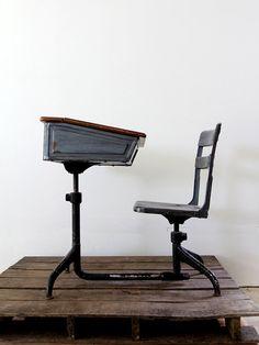 vintage school desk and chair set home pinterest school desks