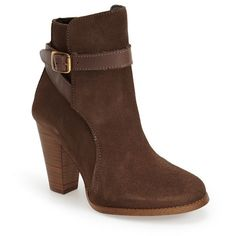 "Dune London 'Quill' Buckle Bootie, 3 1/2"" heel ($160) ❤ liked on Polyvore"
