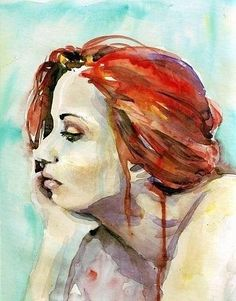 Aquarelle....love the hair colour....striking