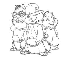 16 Best Alvin And The Chipmunks Coloring Pages Images Alvin The