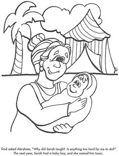 Abraham And Baby Isaac Craft Laughter