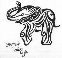 Super Ideas for tattoo elephant tribal ink Little Elephant Tattoos, Elephant Tattoo Design, Tribal Tattoo Designs, Elephant Design, Trendy Tattoos, New Tattoos, Cool Tattoos, Tatoos, Piercing Tattoo