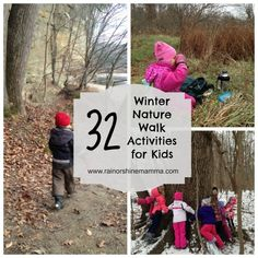 Outdoor Play Party – 32 Fun Winter Nature Walk Activities for Kids