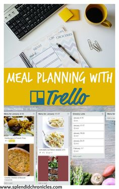 Meal Planning with Trello!  It's free its fun! Its a lifesaver!
