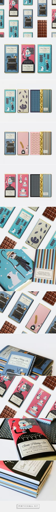 Sweet Holiday Sin chocolates packaging design by polka dot design - http://www.packagingoftheworld.com/2018/02/sweet-holiday-sin.html