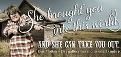 """Nothing says """"mom"""" like a house coat and a shotgun."""