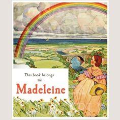 Vintage Rainbow Bookplates