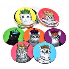 Cats Rule Coaster Set