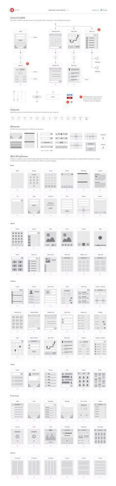 Diagrama de flujo visual para app móvil Ux-kits