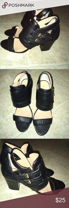 BCBGeneration Shoes/Heels Black heels with buckle details. BCBGeneration Shoes