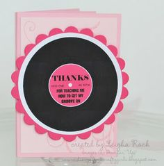 Dance Teacher Thank You Gift Card Holder
