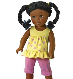 """The Mia doll is a new African-American doll that will hit the market this spring. It's based on the book """"I'm a Pretty Black Girl."""""""