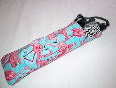 Flamingo curling iron travel bag