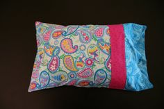 Paisley Travel Pillowcase by RusticRanchHands on Etsy