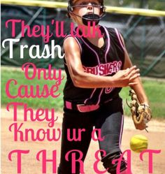 softball quotes for pitchers Girls Softball Quotes, Softball Pitcher Quotes, Motivational Softball Quotes, Softball Chants, Softball Memes, Softball Workouts, Baseball Quotes, Softball Players, Fastpitch Softball