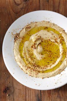 Libanese hummus met Egyptische dukkah